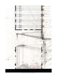 The Transforming Roof Structure, Graphite and ink on Arches Cold Press White watercolor paper. Revit Architecture, Architecture Graphics, Architecture Drawings, Architecture Details, Landscape Architecture, Architecture Presentation Board, Presentation Design, Architectural Presentation, Movement Drawing