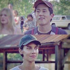 Maggie and Glenn awww