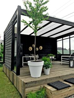 8 Profound Clever Tips: Modern Backyard Garden Landscaping Ideas backyard garden oasis pools.Backyard Garden Shed Potting Tables backyard garden shed tools. Patio Deck Designs, Patio Design, Modern Garden Design, Landscape Design, Pergola Patio, Backyard Patio, Pergola Kits, Cheap Pergola, Pergola Plans
