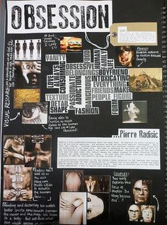 Exploring the theme of obsession in this  sketchbook! This would make an interesting assignment that could be expanded and developed  into a final composition. Great use of visuals and artist research in combination with annotation. #sketchbook #theme #ro