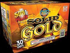 Solid Gold 30 Shot | NCI, Inc. Indiana Fireworks Wholesale