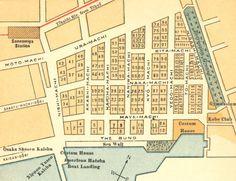 """Map of """"Kobe Former Foreign Settlement"""", 1920."""