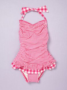 Juicy Couture Swim Garden Plaid Maillot Swimsuit-@Danielle Lampert Mann, I think Sadie needs this swimsuit like, yesterday.