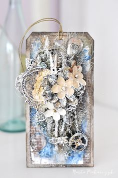 MyArt - Marta: Retro mixed media tag