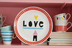Love plate by Ninainvorm on Etsy