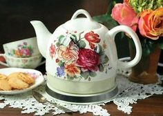 Chic Shabby Victorian Electric Water Kettle Tea Pot,7'',34oz. #Unbranded