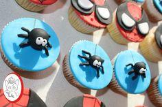 Spiderman cupcake