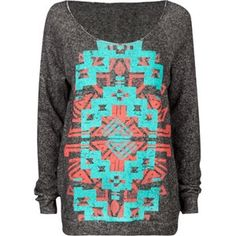 tribal sweater, would be super cute with leggings!