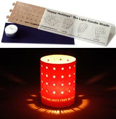 Self Promotional Tea light Candle Shade Card - designed by Heads Inc, New York