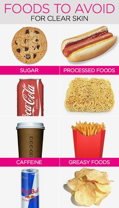 Foods to avoid for clear, acne-free skin (and foods to eat!)
