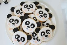 Cute cookies at a panda birthday party! See more party planning ideas at CatchMyParty.com!