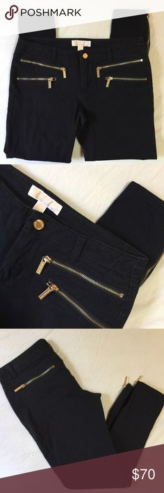 MICHAEL Michael Kors Zipper Detail Ankle Jeggings Perfect condition pants with zipper closure on pockets and detail at ankles. MICHAEL Michael Kors Pants Skinny