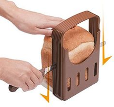 Sealive Bread Slicer Bread Machine Parts,Toast Bagel Loaf Sandwich Slicer Cutter Great for The Baker and Housewife, Foldable and Adjustable Home Kitchen Accessories, Easy to Use Best Electric Pressure Cooker, Bread Toast, Baking Accessories, Kitchen Accessories, Fashion Accessories, Loaf Cake, Home Baking, Easy Bread, Mini Foods