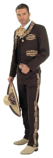 Caporal Suit, Mariachi. Measurement guide. Can make a stencil and paint down side of black pants