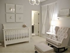 Luxe nursery. Neutral nursery. Elegant nursery.