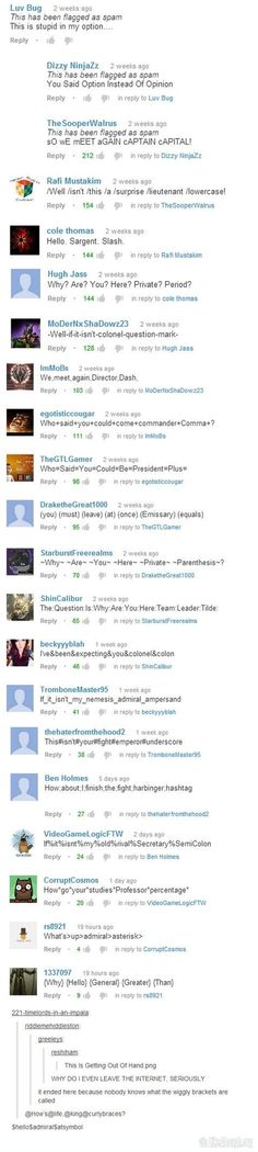 Meanwhile in the youtube comment section