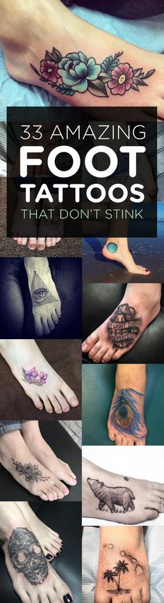 33 Amazing Foot Tattoos That Don't Stink | TattooBlend
