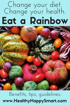 Eat a Rainbow - change your diet, change your health. Eat a full Rainbow diet. Healthy Eating Habits, Healthy Living Tips, How To Stay Healthy, Health Tips, Health And Wellness, Holistic Wellness, Kids Health, Women's Health, Health Coach