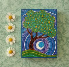 Gorgeous Pear Tree Wood Block Print Art by ElspethMcLean on Etsy, $9.50