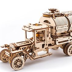 UGEARS TANKER Puzzle for home decor. Educational Wooden Puzzle Toys for children and adults. Exciting DIY project for the whole family 3d Puzzles, Puzzles For Kids, Wooden Puzzles, Wooden Toys, Wooden Model Kits, New Years Decorations, Puzzle Toys, Dose, Educational Toys