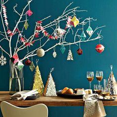 décoration de Noël géométrique suspendue