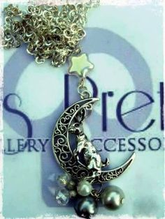 Pagan Moon Gazing Hare pendant silver plated 22 by BexsPretties