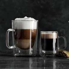 Double Wall Glass Espresso Cups, Set of 4