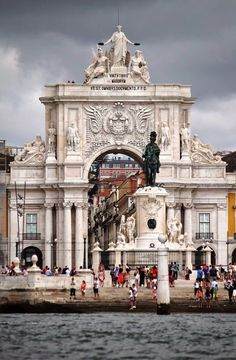 Triumph Arch and Terreiro do Paço Square, just in front of the Tagus River, Lisbon downtown, Portugal Sintra Portugal, Places In Portugal, Visit Portugal, Portugal Travel, Spain And Portugal, Places Around The World, Oh The Places You'll Go, Travel Around The World, Places To Travel