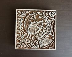 Humor Paisley Hand Carved Wooden Priting Textile Blocks Stamps Antique Type, Cuts & Printing Blocks