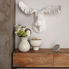 Papier-Mâché Animal Sculptures - Moose #WestElm