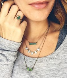 A lesson in Fall jewelry layering from Merchandiser Tracy!