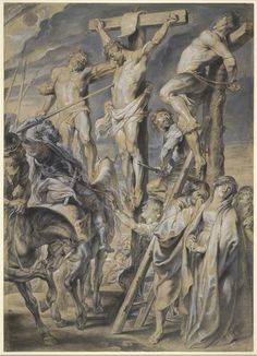 The Coup de Lance (a drawing by Peter Paul Rubens in preparation for an engraving).