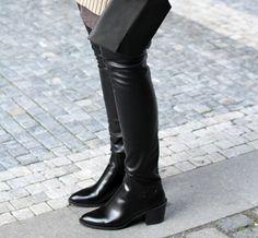Wearing my new overknee boots  www.theczechchicks.com