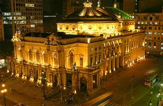 Teatro Municipal in Sao Paulo, Brazil. I haven't seen it since the recent renovation. I was blessed to sing Andrea Chenier there.