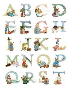 Beatrix Potter alfabet 2 digitale Collage door Cloud9Kreations