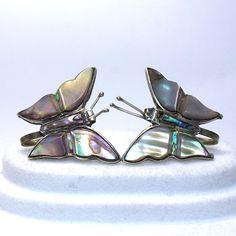Vintage Sterling Silver Abalone Butterfly Taxco by JMPierceJewelry