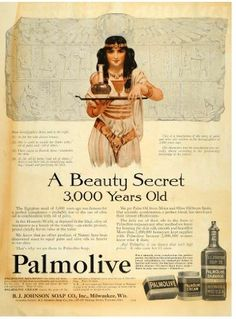 Vintage Egyptian-dancer themed Palmolive advertisement