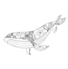 Whale Tattoos, Baby Tattoos, Animal Tattoos, Cute Tattoos, Name Drawings, Tattoo Drawings, Sea Animals Drawings, Whale Drawing, Whale Sketch