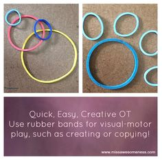 Boost your child's visual-motor skills in an easy and creative way by using rubber bands to copy or create!