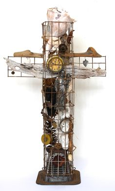 assemblage art by mike bennion - 'cruciform'