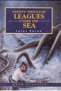 Twenty Thousand Leagues Under The Sea by Jules Verne - Abridged - S/Hand Octopus Artwork, Leagues Under The Sea, Jules Verne, Evergreen, Book Worms, The Twenties, The Book, Fiction, Reading