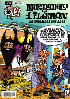 MORTADELO Y FILEMON Nº 32 COLECCION OLE - LAS EMBAJADAS CHIFLADAS (PORTADA EN RELIEVE)