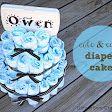 cute & easy diaper cake {tutorial}