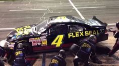 Landon Cassill Pit Stop in the Flex Seal #4 Chevy 2013