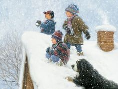 Robert Duncan This print was a gift from my sister to remind me of our snowy childhood in ND