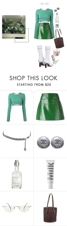 """""""💵"""" by niaradiva ❤ liked on Polyvore featuring Ports 1961, Courrèges, Chanel, Fresh, MILK MAKEUP, Alexander McQueen, Jean-Paul Gaultier, Louis Vuitton and Vetements"""