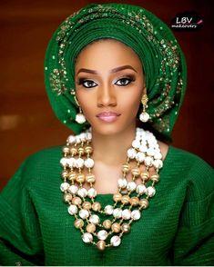 Trending Gele Styles Lovely Designs to wow - Owambe Celebrities World Artboard 1 African Lace, African Women, African Dress, African Style, African Blouses, Nigerian Bride, Nigerian Weddings, African Wedding Attire, African Attire