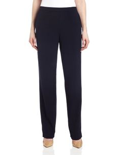 Briggs New York Women's All Around Comfort Pant,Navy,14  Straight-leg pant featuring hidden-elastic comfort waistband and slant front pockets