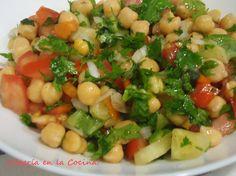 Ideas que mejoran tu vida Vegetable Recipes, Vegetarian Recipes, Cooking Recipes, Healthy Recipes, Delicious Recipes, Orange Chicken, Kitchen Dishes, Bean Salad, Tapas