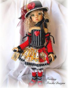 """"""" Alice Queen of Hearts""""-7 Pc OOAK for Kaye Wiggs MSD Dolls & similar size by FF #ClothingAccessories"""
